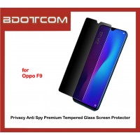 Privacy Anti Spy Premium Tempered Glass Screen Protector for Oppo F9