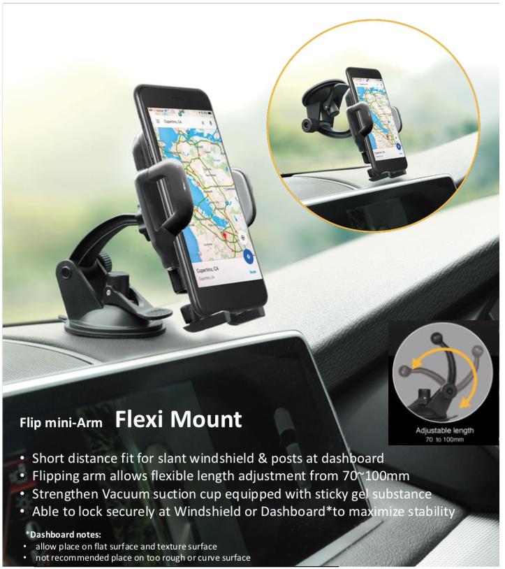 Capdase Flexi Sport Car Mount Flip Mini
